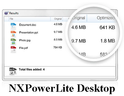 Download compress documents, photos NXPowerLite Desktop Program free download | Download compress documents